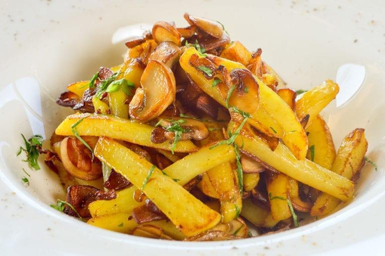 Картофельное пюре с вешенками