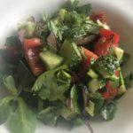 Салат из овощей с зеленью   Salad from vegetables with greens
