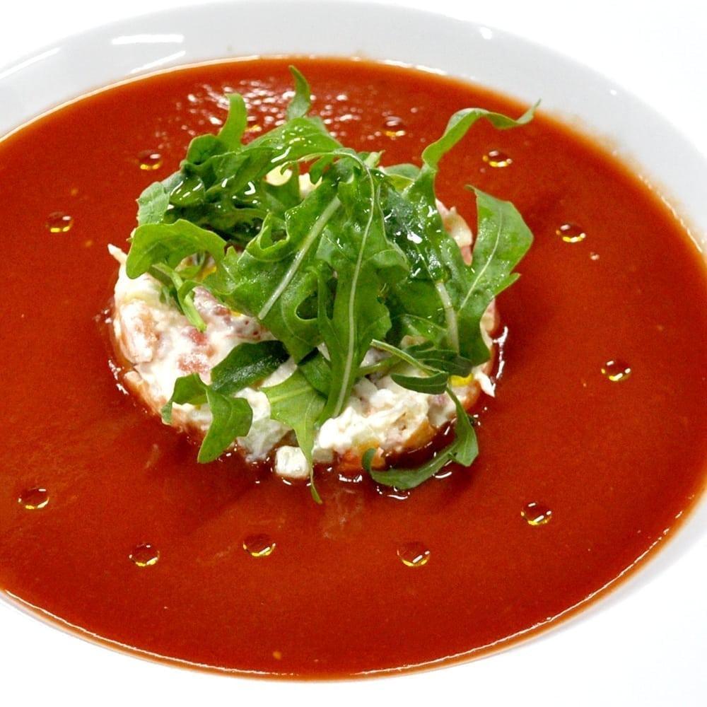 Гаспачо с крабом | Gazpacho with crab