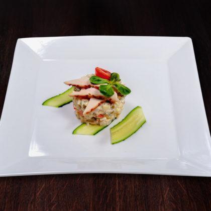 Классический салатик «Оливье» с куриной грудкой | Classic Russian Salad with Chicken Fillet