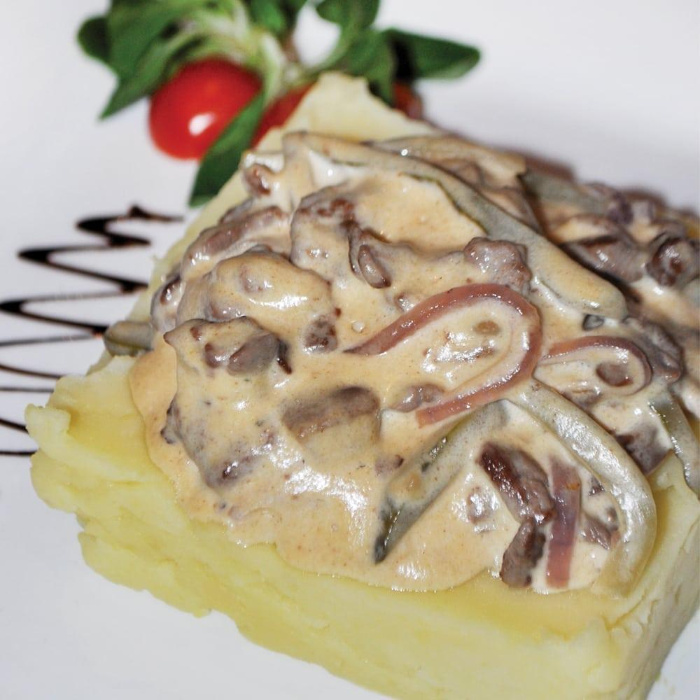 Бефстроганов с белыми грибами | Beef Stroganoff with porcini