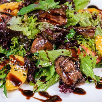 Тёплый салат с куриной печенью | Warm salad with chicken live