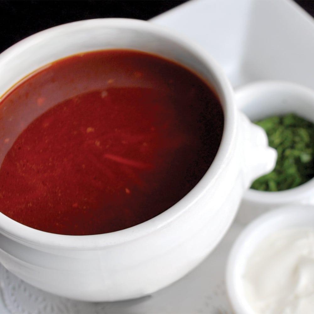 Борщ с телятиной | Borsch with veal fillet