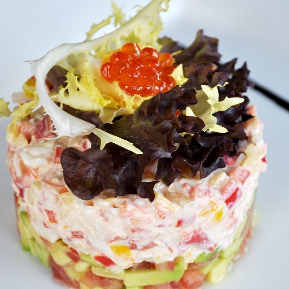 Салат с камчатским крабом | Salad with kamchatka crab