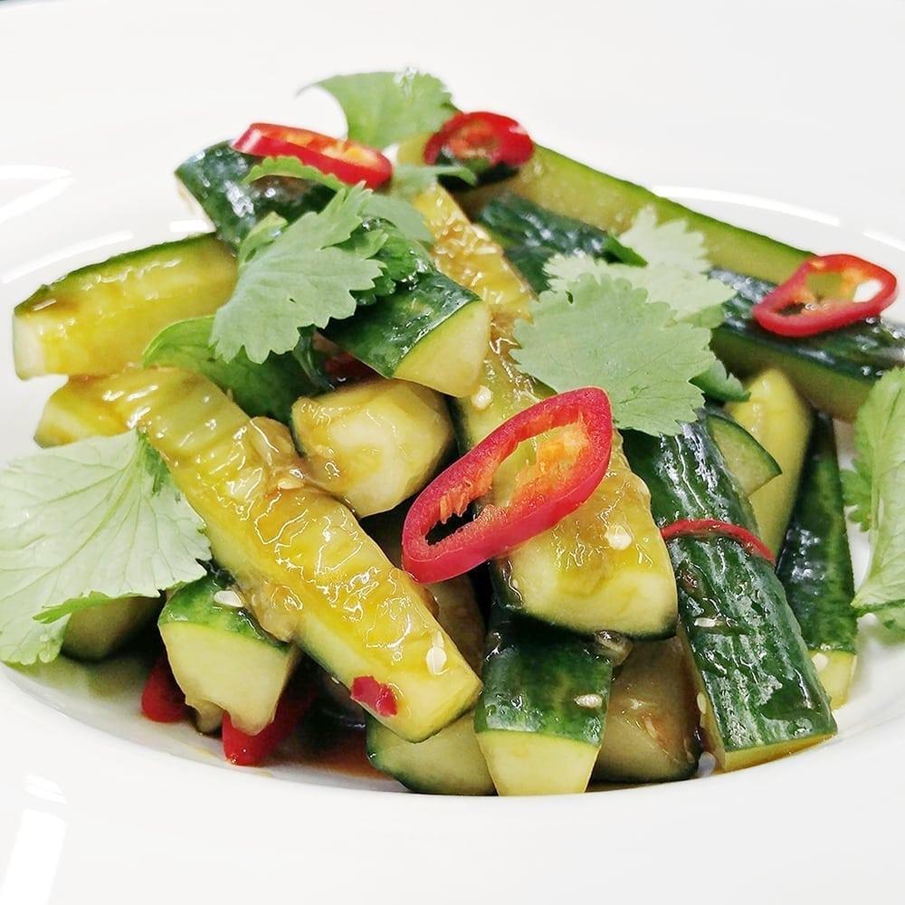 Салат из битых огурцов | Broken cucumber salad