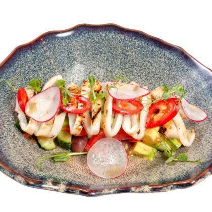 NEW Салат с пряным кальмаром   Salad with savory squid