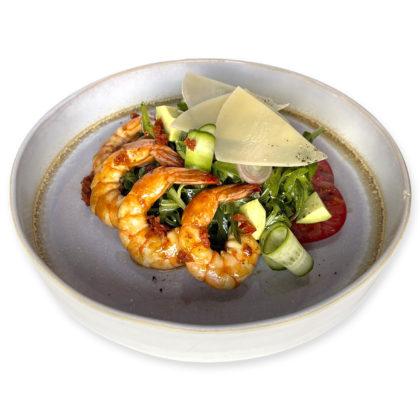 Салат с креветками и рукколой / Shrimp and arugula salad